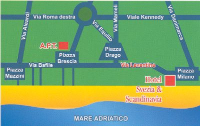 Cartina Jesolo Piazze.Mappa Hotel Svezia E Scandinavia Lido Di Jesolo Venezia